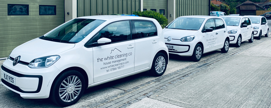 White Cleaning Co Vehicles